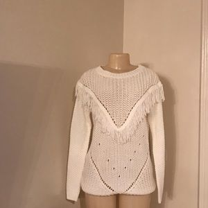 Forever21 White knit sweater